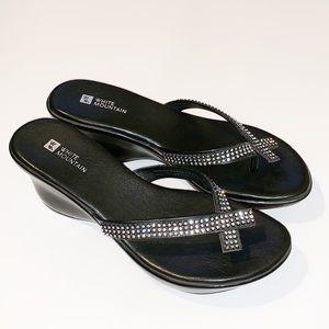 Rhinestone Wedge Sandals Size 8